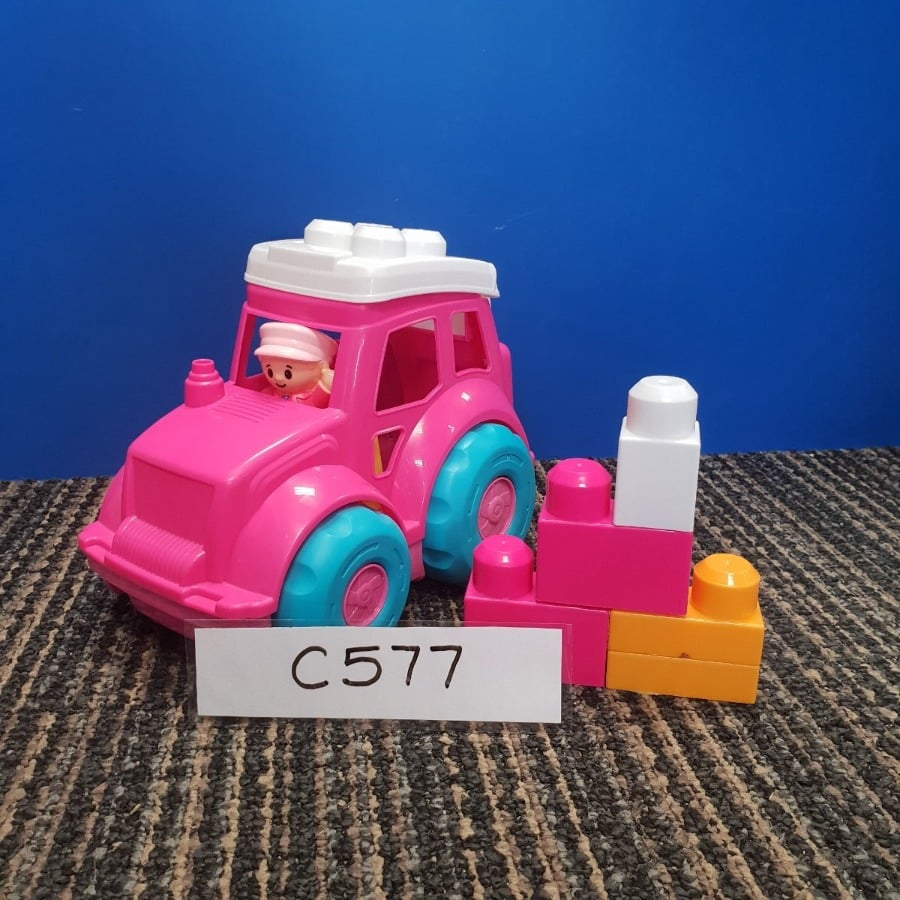 Pink Car with Blocks
