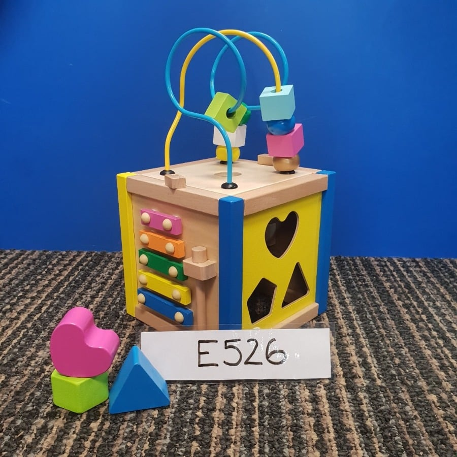 Small Wooden Activity Cube