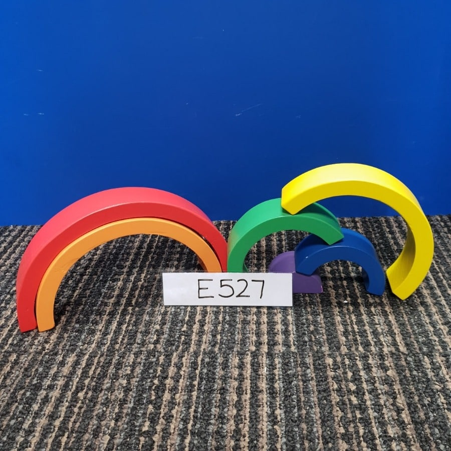 Wooden Rainbow Stacking Blocks